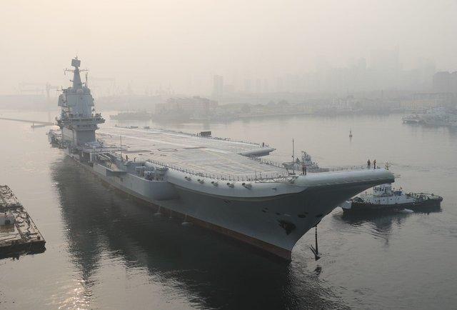 اولین ناوهواپیمابر کاملا چینی به بهره برداری رسید