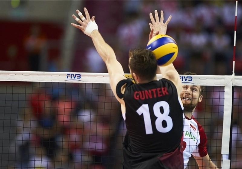 لیگ ملت های والیبال، لهستان در خانه کانادا را شکست داد