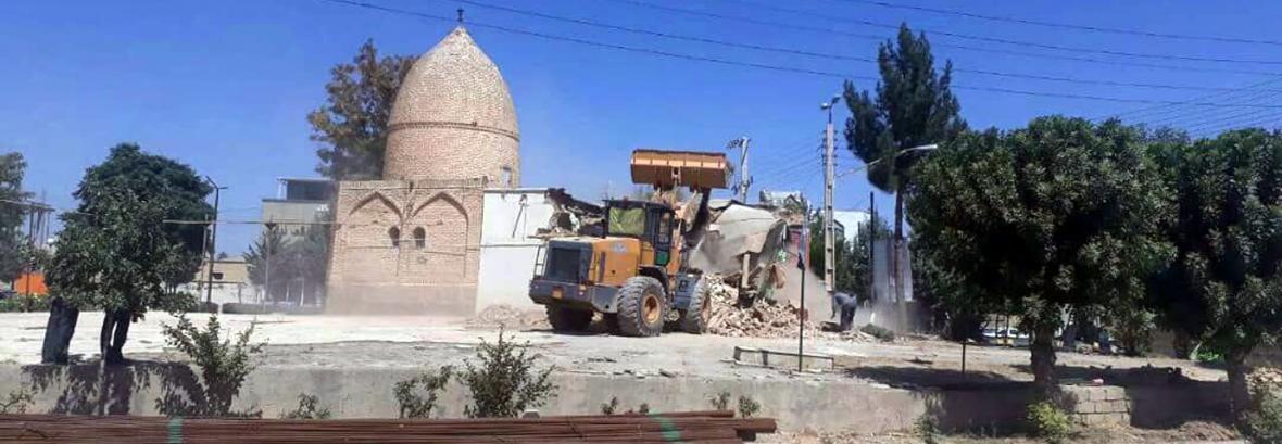 تخریب بنای تاریخی امامزاده ولی ضیا آباد تکذیب شد