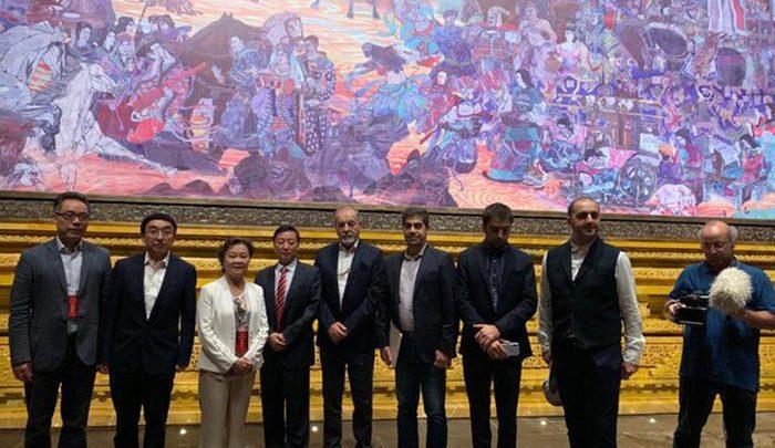 تابلوفرش روایی ایرانی در موزه چین، هنرمندان کشورمان 23 میلیون گره زدند