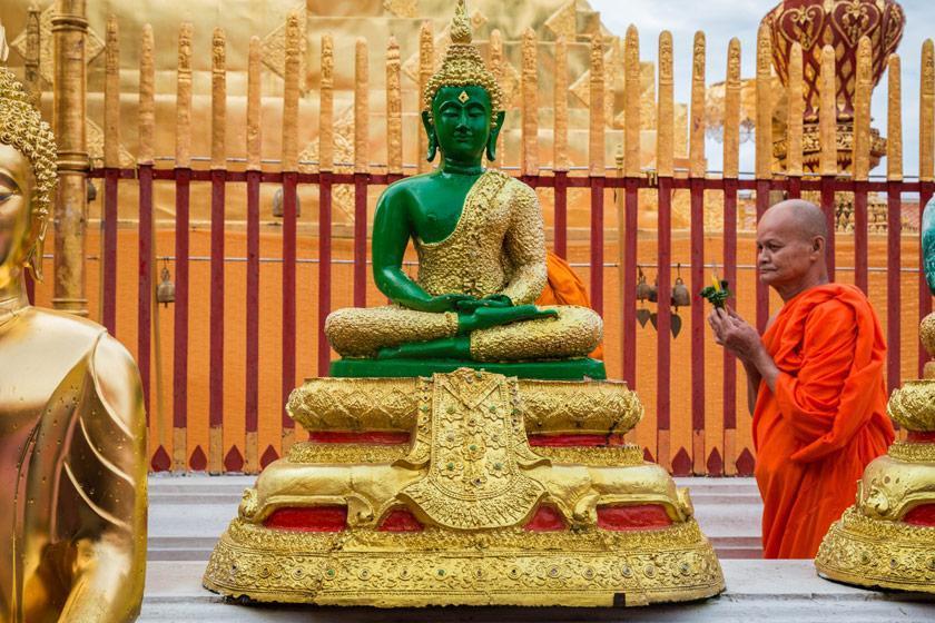معبد Wat Phrathat Doi Suthep مهم ترین معبد چیانگ مای، تایلند