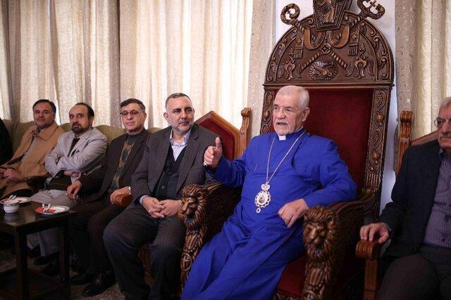 ملاقات محسن جوادی با اسقف اعظم ارامنه تهران