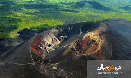 اسکی روی آتشفشان فعال سرو نگرو در نیکاراگوئه