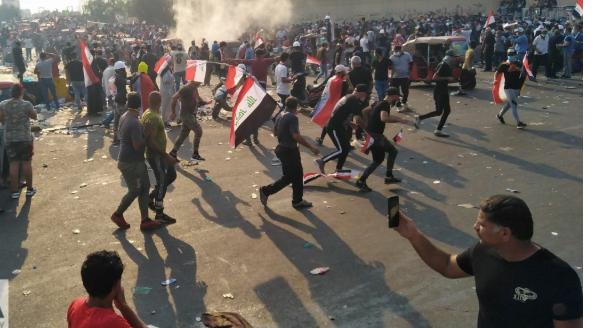 ادامه اعتراض ها در عراق،دفتر حزب الدعوه آتش زده شد