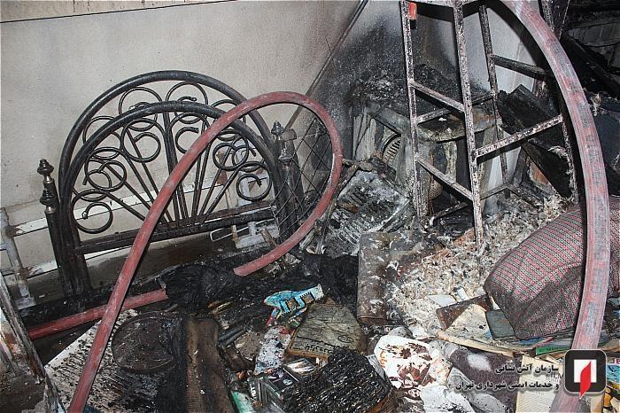 آتش سوزی منزل مسکونی در خیابان قزوین