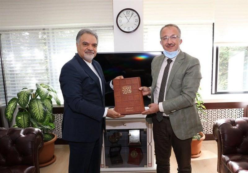 ملاقات فرازمند با رئیس گروه دوستی ایران و ترکیه و رئیس مرکز آرشیو ریاست جمهوری