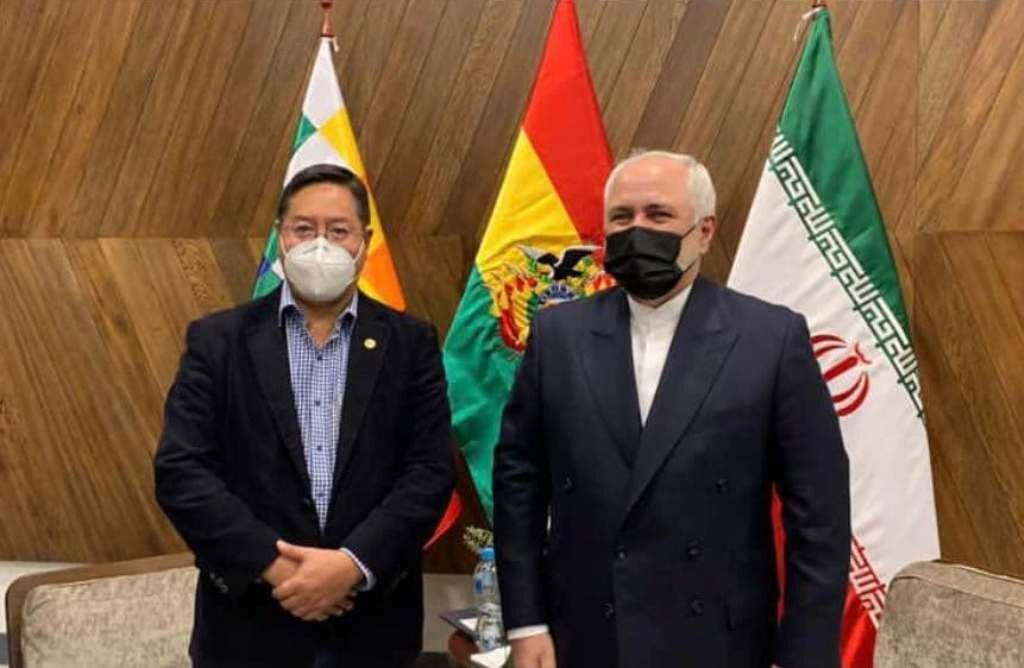 خبرنگاران ظریف با رییس جمهوری منتخب بولیوی ملاقات کرد