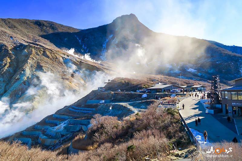 اواکودانی؛ دره ای آتشفشانی در هاکونه ژاپن، عکس