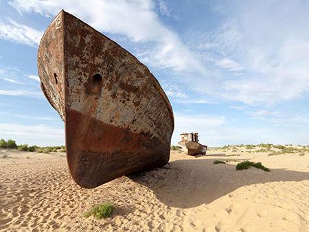 دریاچه آرال؛ گورستان کشتی ها در ازبکستان