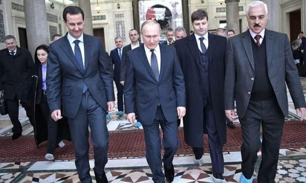 پوتین سفر غیرعلنی اش به دمشق را فاش کرد، همزمان با سال جدید میلادی
