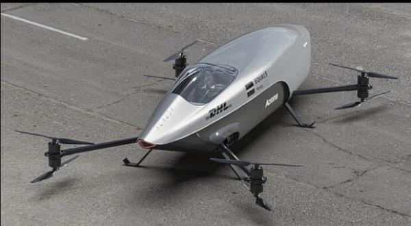 نخستین خودروی پرنده مسابقه ای جهان رونمایی شد