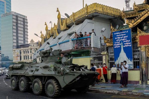 ادامه اعتراض ها به کودتای نظامیان در میانمار