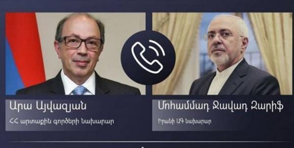 گفت وگوی تلفنی ظریف و همتای ارمنستانی خبرنگاران